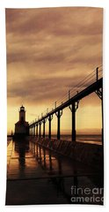 Michigan City Lighthouse Beach Sheet