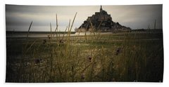 Mont St Michel Beach Towel by Therese Alcorn