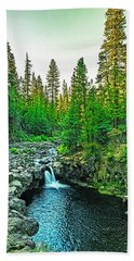 Morning At The  Falls Beach Towel by Nancy Marie Ricketts