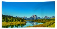 Mount Moran Beach Towel