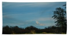 Mount Rainier In The Distance Beach Towel