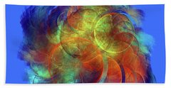 Multicolored Abstract Figures Beach Towel