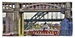 Newcastle Upon Tyne Bridges Beach Towel
