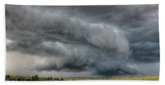 North Dakota Thunderstorm Beach Towel