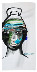 Nuer Bride - South Sudan Beach Towel