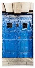 Old Blue Door Beach Towel