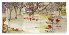 olives and grapes in Italy album  Beach Towel