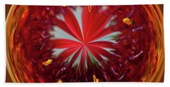 Beach Towel featuring the photograph Orb Image Of A Gaillardia by Brenda Jacobs