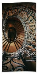 Beach Sheet featuring the photograph Ornamented Spiral Staircase by Jaroslaw Blaminsky