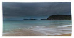 Overcast Cloudy Sunrise Seascape Beach Towel
