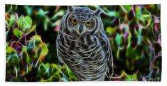 Owl Collection Beach Towel by Marvin Blaine