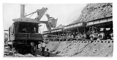 Panama Canal - Construction - C 1910 Beach Towel