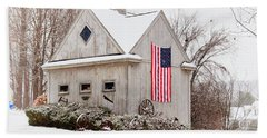 Patriotic Barn Beach Sheet by Tricia Marchlik