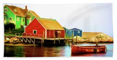 Peggy's Cove Beach Towel by Andre Faubert