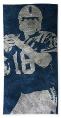 Peyton Manning Colts Beach Towel by Joe Hamilton