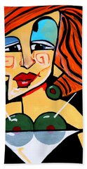 Big Boobs Picasso By Nora Beach Towel