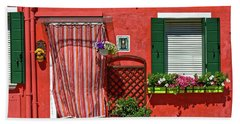 Picturesque House In Burano Beach Sheet