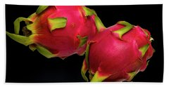 Beach Towel featuring the photograph Pink Dragon Fruit  by David French