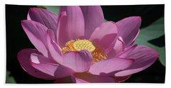 Pink Lotus Blossom Beach Towel
