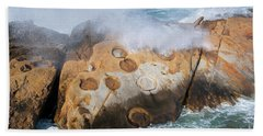 Point Lobos Concretions Beach Towel