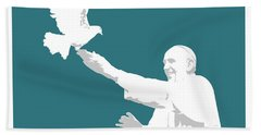 Pope Francis Beach Towel by Greg Joens