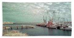 Port Royal Shrimp Boats Beach Towel