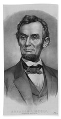 President Lincoln Beach Towel by War Is Hell Store