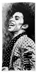 Beach Towel featuring the painting Prince by Darryl Matthews