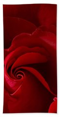 Red Rose Iv Beach Towel by George Robinson