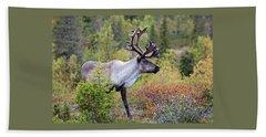 Reindeer Beach Towel