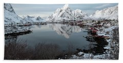 Beach Towel featuring the photograph Reine, Lofoten 4 by Dubi Roman