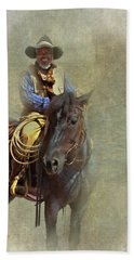 Beach Towel featuring the photograph Ride Em Cowboy by David and Carol Kelly