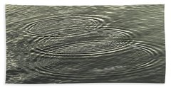 Beach Towel featuring the photograph Ripple Effect by John Glass