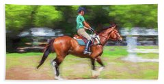 Rocking Horse Stables Ocala Florida Beach Towel