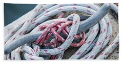 Ropes On Cleat Beach Towel