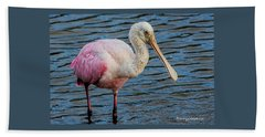 Roseate Spoonbill 1 Beach Sheet