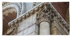 Beach Towel featuring the photograph Saint Sernin Basilica Architectural Detail by Elena Elisseeva