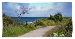 Beach Towel featuring the photograph Seaview by Robin-Lee Vieira