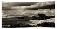 Beach Sheet featuring the photograph Seen Better Days by Mike Dawson