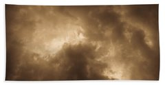 Sepia Clouds Beach Sheet