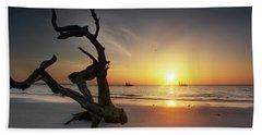 Shrimp Boats And Driftwood Beach Towel