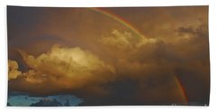 Beach Sheet featuring the photograph 2- Singer Island Stormbow by Rainbows
