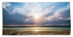 Beach Sheet featuring the photograph Sirmione by Traven Milovich