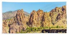 Beach Sheet featuring the photograph Smith Rock by Jonny D