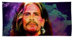 Steven Tyler Beach Sheet by Elena Kosvincheva