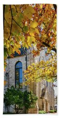 Stone Chapel Fall Beach Towel
