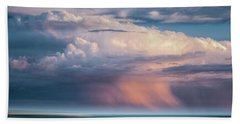 Storm On The Sound Beach Towel