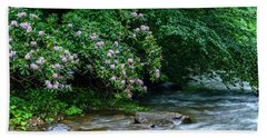 Summer Along Birch River Beach Towel