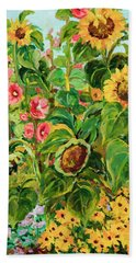 Sunflowers Beach Sheet by Alexandra Maria Ethlyn Cheshire
