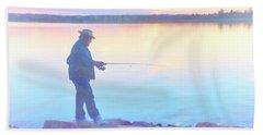 Sunrise Fisherman Beach Towel
